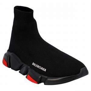 Balenciaga Black/Red Speed 2.0 Sneakers EU 44