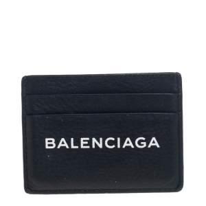 Balenciaga Black Leather Everyday Card Holder