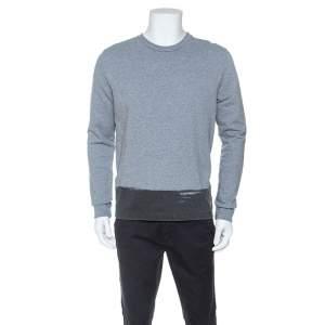 Balenciaga Grey Jersey Crew Neck Sweatshirt M