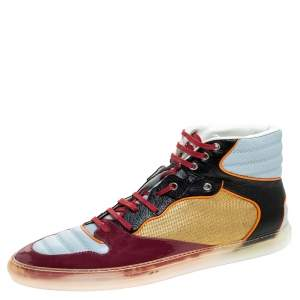 Balenciaga Multicolor Patent Leather High Top Sneakers Size 44