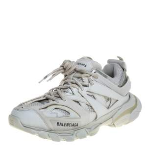 Balenciaga White Leather And Mesh Track Trainers Sneakers Size 42