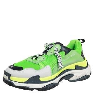 حذاء رياضي بالينسياغا تريبل إس شفاف جلد وشبك متعدد الألوان مقاس 45