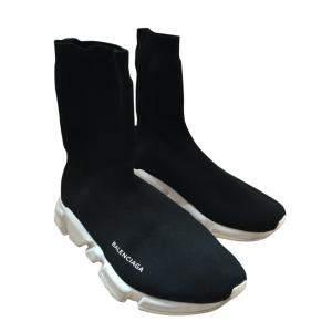 Balenciaga Black High Top Speed Trainer Sneakers Size US 8.5/EU 41.5
