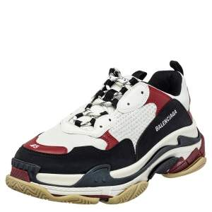 Balenciaga Multicolor Leather And Mesh Triple S Chunky Sneaker Size 45