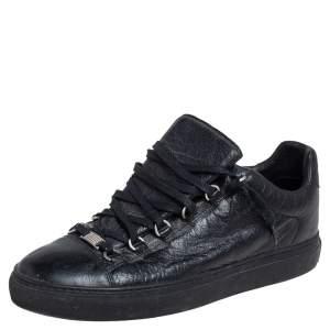 حذاء رياضي بالنسياغا أرينا جلد أسود عنق منخفض مقاس 42