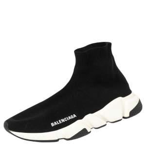 حذاء رياضي بالنسياغا سبيد قماش تريكو أسود عنق مرتفع مقاس 40