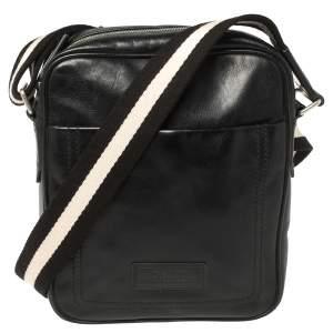 حقيبة بالي ماسنجر جلد أسود جيب أمامي