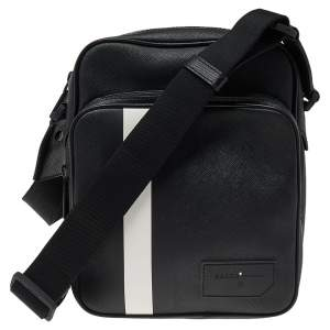 Bally Black Leather Serbet Messenger Bag