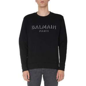 Balmain Black Crew Neck Sweatshirt Size L