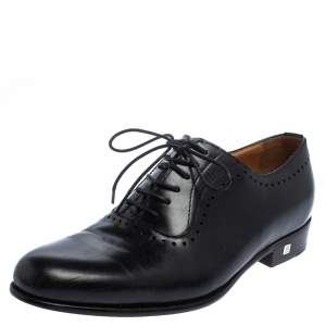 Balmain Black Leather Lace Up Oxfords Size 39