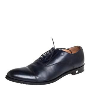 حذاء أوكسفوردز بالمين ثنائي اللون أزرق كحلي وأسود مقاس 43