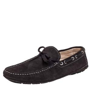Balmain Brown Suede Bow Loafers Size 43