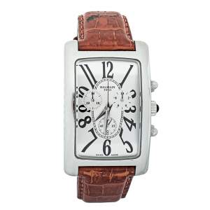 Pierre Balmain Silver Stainless Steel & Leather 5841 Men's Wristwatch 33 mm