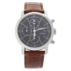 Baume & Mercier Black Stainless Steel & Leather Classima Executive 65533 Men's Wristwatch 42mm