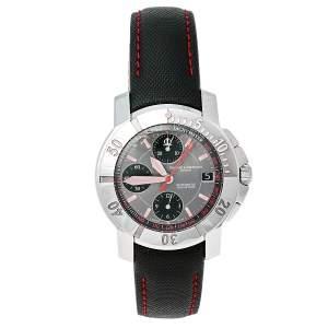 ساعة يد رجالية باوميه & ميرسيه إصدار سلطنة عمان 65519 ستانلس ستيل رمادي  40 مم