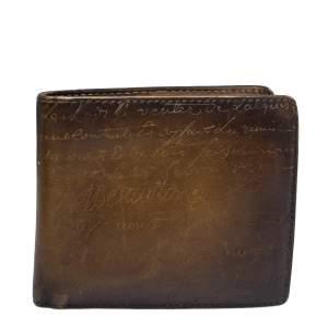 Berluti Tobacco Scritto Leather Makore Bifold Wallet
