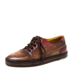 حذاء رياضي بيرلوتي بلايتايم بحافة منخفضة جلد آومبريه بني مقاس 42