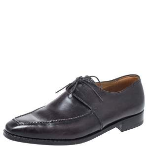 Berluti Black Leather Derby Size 40.5