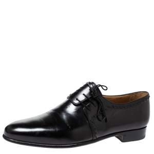 Berluti Black Leather Lace Up Oxfords Size 45