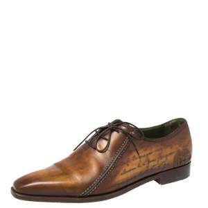 Berluti Brown Leather Oxford Size 42