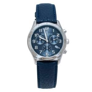 Bernard H. Mayer Blue Stainless Steel Iris Chronograph Men's Wristwatch 38 mm