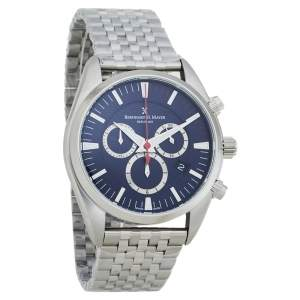 Bernhard H. Mayer Blue Stainless Steel Ascent Chronograph BH06/CW Men's Wristwatch 44 MM