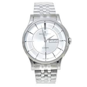 Bernhard H. Mayer Silver Stainless Steel Chronos Limited Edition Men's Wristwatch 42 mm