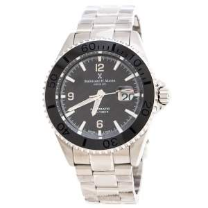 Bernhard H. Mayer Black Stainless Steel Nauticus Austro Limited Edition Men's Wristwatch 45 MM
