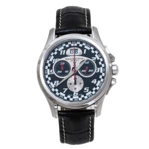Bernhard H. Mayer Black Stainless Steel Chrono Compressor Limitted Edition 3410/9999 Men's Wristwatch 40 mm