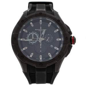 Bernhard H. Mayer Black Stainless Steel Victor Chronograph Men's Wristwatch 50 mm