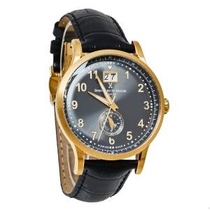Bernhard H. Mayer Black Gold PVD Stainless Steel Pioneer Men's Wristwatch 42 mm