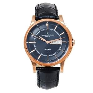 Bernhard H. Mayer Black Rose Gold PVD Stainless Steel Chronos-Rose Gold Limited Edition Men's Wristwatch 42 mm