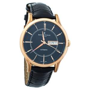 Bernhard H. Mayer Black Rose Gold PVD Plated Stainless Steel Chronos-Rose Gold Limited Edition Men's Wristwatch 42mm