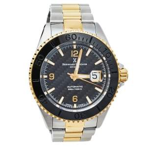 ساعة يد رجالية بيرنارد إتش. ماير نوتيكاس رويال  II ستانلس ستيل ثنائي اللون سوداء 45 مم