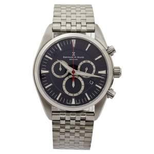 Bernhard H. Mayer Blue Stainless Steel Ascent Chronograph BH06/CW Men's Wristwatch 44 mm