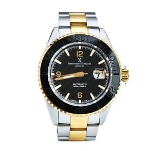 ساعة يد رجالية بيرنارد إتش. ماير نوتيكوس رويال II ستانلس ستيل سوداء 45مم