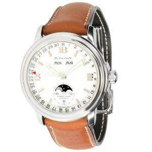 Blancpain White Stainless Steel LeMan Moonphase 2763.1127A.11 Men's Wristwatch 38 MM