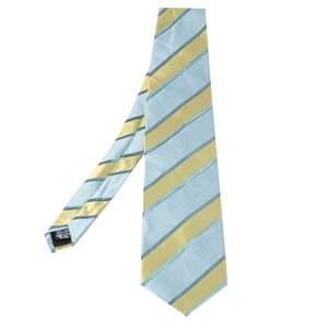Boss By Hugo Boss Blue Diagonal Striped Textured Silk Tie