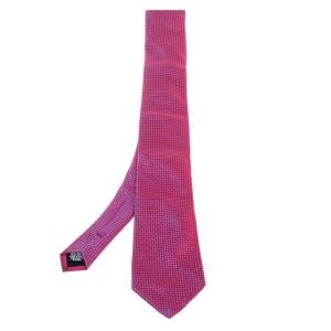 Boss By Hugo Boss Pink Jacquard Pattern Silk Tie