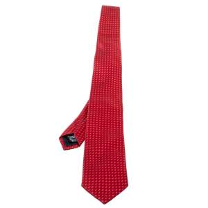Boss By Hugo Boss Red Dot Patterned Silk Tie
