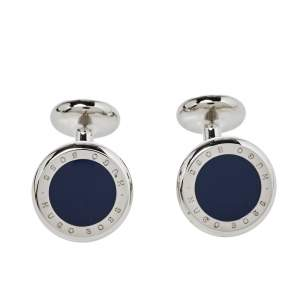 Boss By Hugo Boss Blue Enamel Tobin Cufflinks