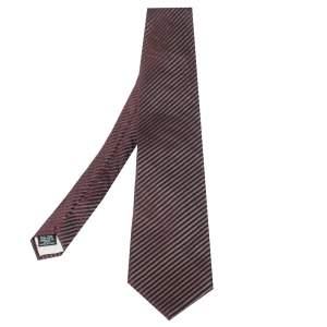 ربطة عنق بوس باي هوغو بوس جاكار حرير مخطط عنابي