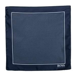 Boss by Hugo Boss Navy Blue Pin Dot Silk Pocket Square