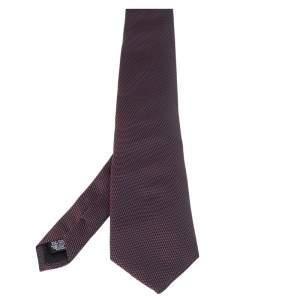 Boss By Hugo Boss Purple & Black Jacquard Silk Tie