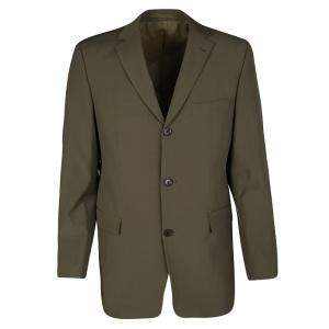 Boss By Hugo Boss Vintage Brown Wool Tailored Rossellini Blazer L