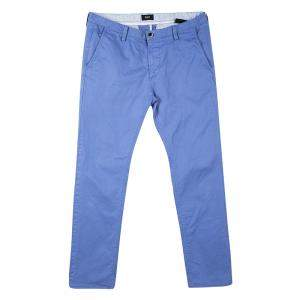Boss By Hugo Boss Blue Cotton Stretch Rice 1-D Modern Essential Pants M