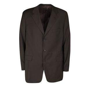 Boss By Hugo Boss Brown Wool Blend Blazer XXXL