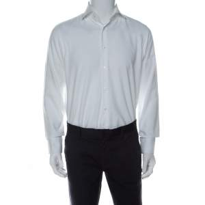 Boss By Hugo Boss White Cotton Regular Fit Gerald Shirt M