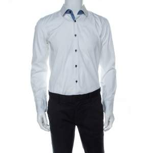 Boss by Hugo Boss White Cotton Slim Fit Juri Shirt L