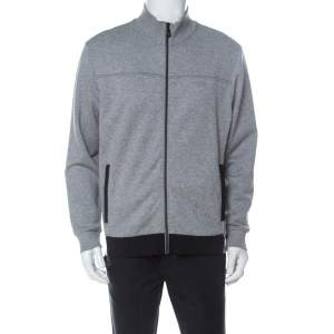 Boss by Hugo Boss Grey Jersey Zip-Up Skaz Track Jacket L